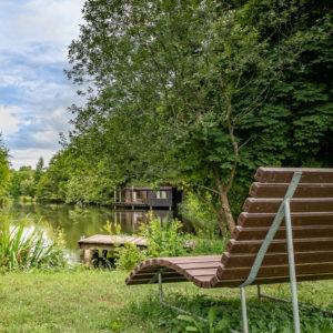 Neumühle Sommer Blick auf den See